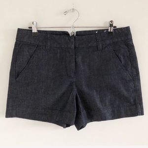 LOFT Indigo Blue Riviera Shorts Size 8
